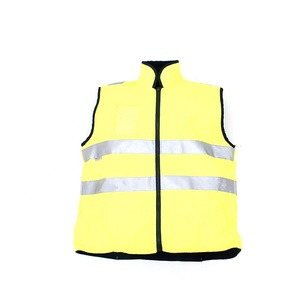 HIGH VISIBILITY 3M REFLECTIVE TAPE SAFETY REVERSABLE VEST WITH ZIPPER AND POCKET