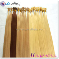 Hot Selling High Quality Remy hair dark brown silky straight 20inch mongolian 100% Remy hair i tip hair extensions