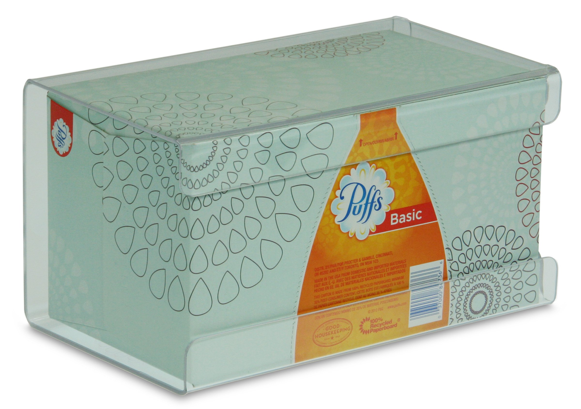 "TrippNT 51140 Plastic Wall Mountable Kleenex Box Holder, 9-1/2"" Width x 5-1/4"" Height x 5"" Depth, Large, Clear"