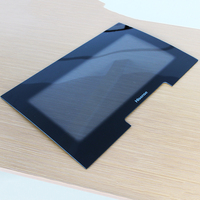 Safety edges polished 2 blunted curved tempered glass
