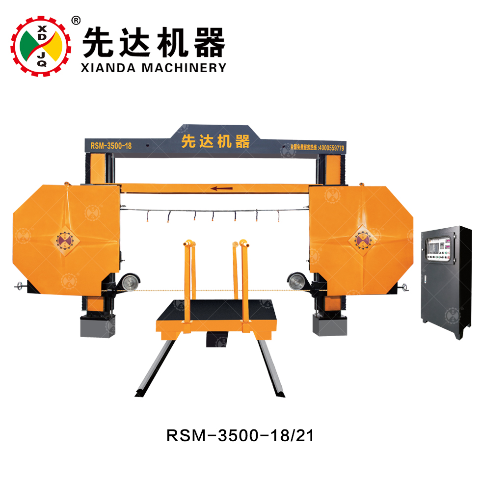 Stone Processing Granite Diamond Wire Saw Cutting Machine Xianda RSM-3500-18/21