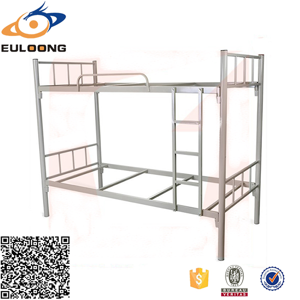 Economical iron cot bunk double portable <strong>folding</strong> camping bed