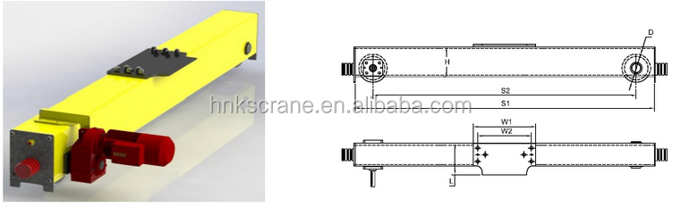 Electric overhead crane end carriage