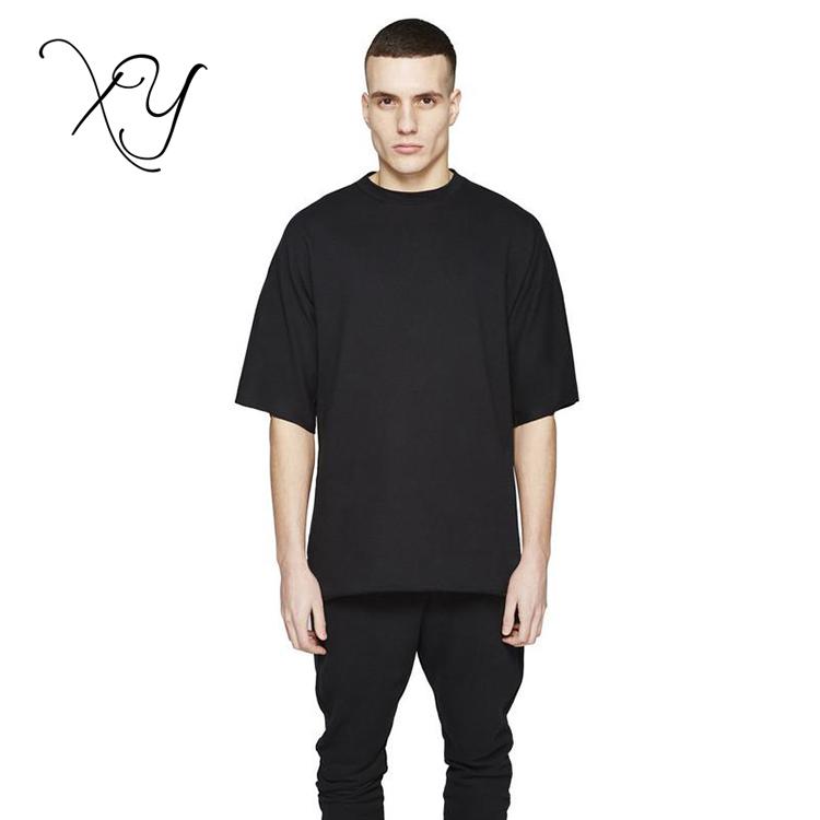 564f8ff3c 2018 homens moda camisas roupas masculinas kanye urbano preto meia manga  camiseta de grandes dimensões