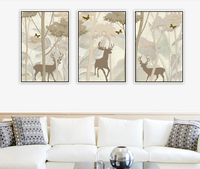 High-end simple framed home goods wall art canvas painting for living room