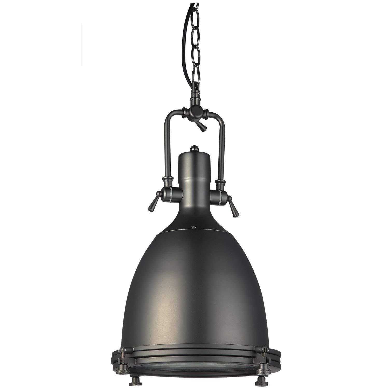 """VONN VVP21011BZ Industrial 14"""" LED Pendant Light, Industrial Pendant Lighting, Adjustable Hanging Light, Dorado Collection, Architectural Bronze"""