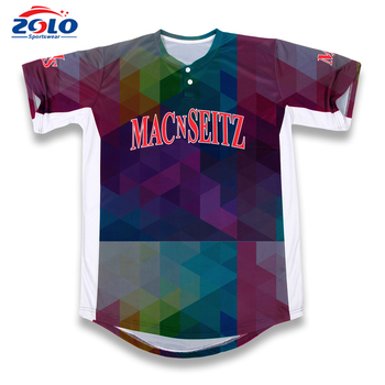 Factory direct supplier new style fitness baseball jersey
