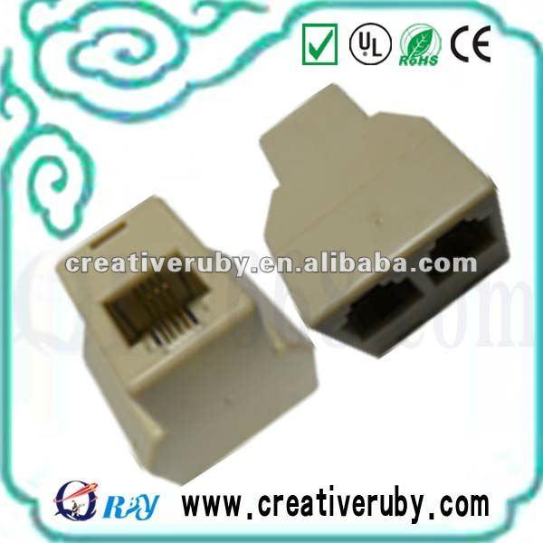 Rj11,Rj12,Rj45 Telephone Connector & Modular Plug,Telephone Duplex ...