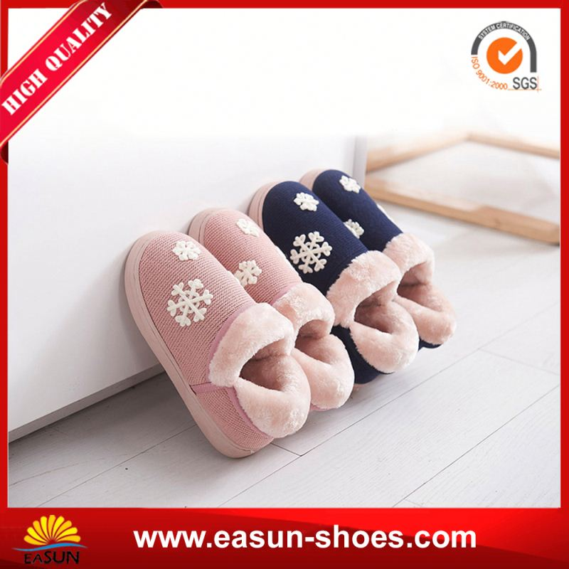 Cheap factory price OEM warm wool felt shoes animal print slipper shoes winter furry toddler shoes