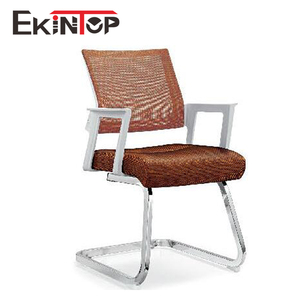 Hot selling Middle back mesh parts fixed armrest office visitor chair