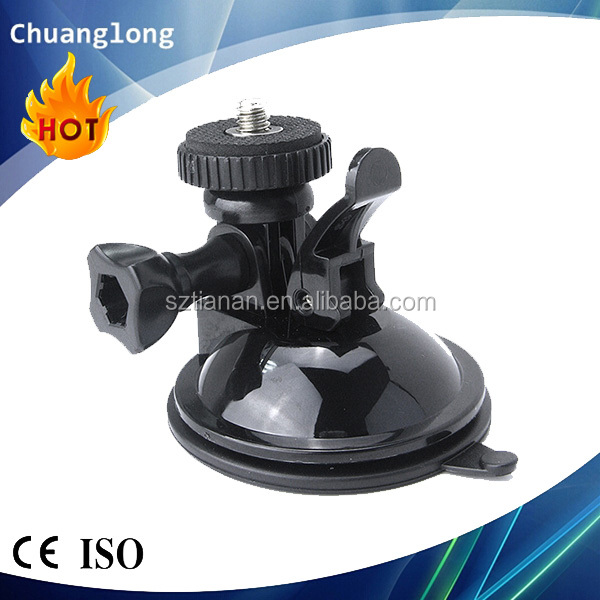 Portable handy sticky suction cup camera mount with 1/4'' camera head adapter