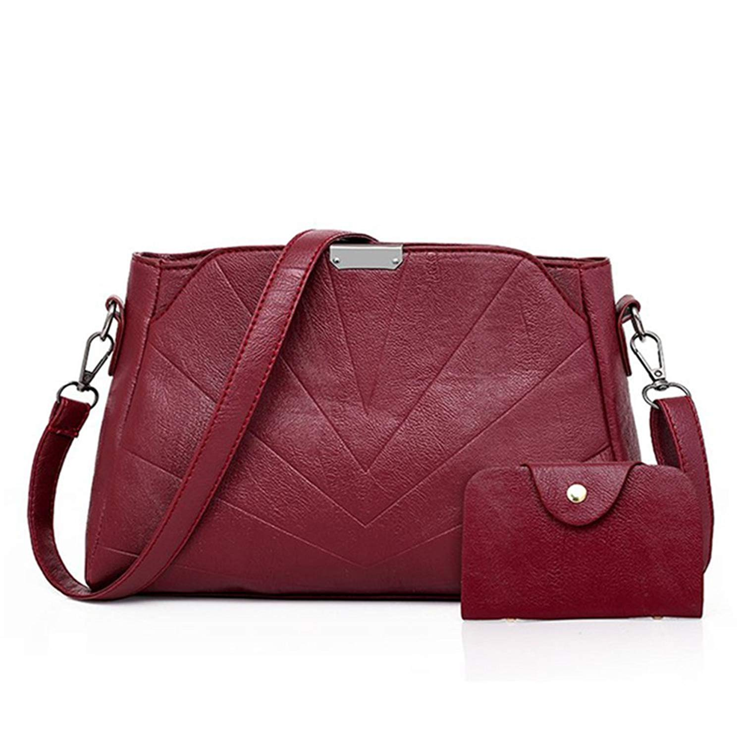 d0653300bf4c Get Quotations · PU Leather Bags Women Red Small Purses Handbags Shoulder Crossbody  Bags Clutch