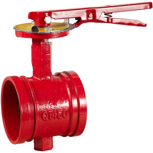 fire protection grooved worm gear butterfly valve
