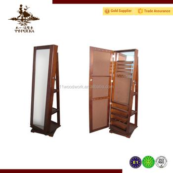Home Furniture MDF Floor Standing Mirror Jewelry Cabinet, Floor Mirror  Jewelry Cabinet, Full Length