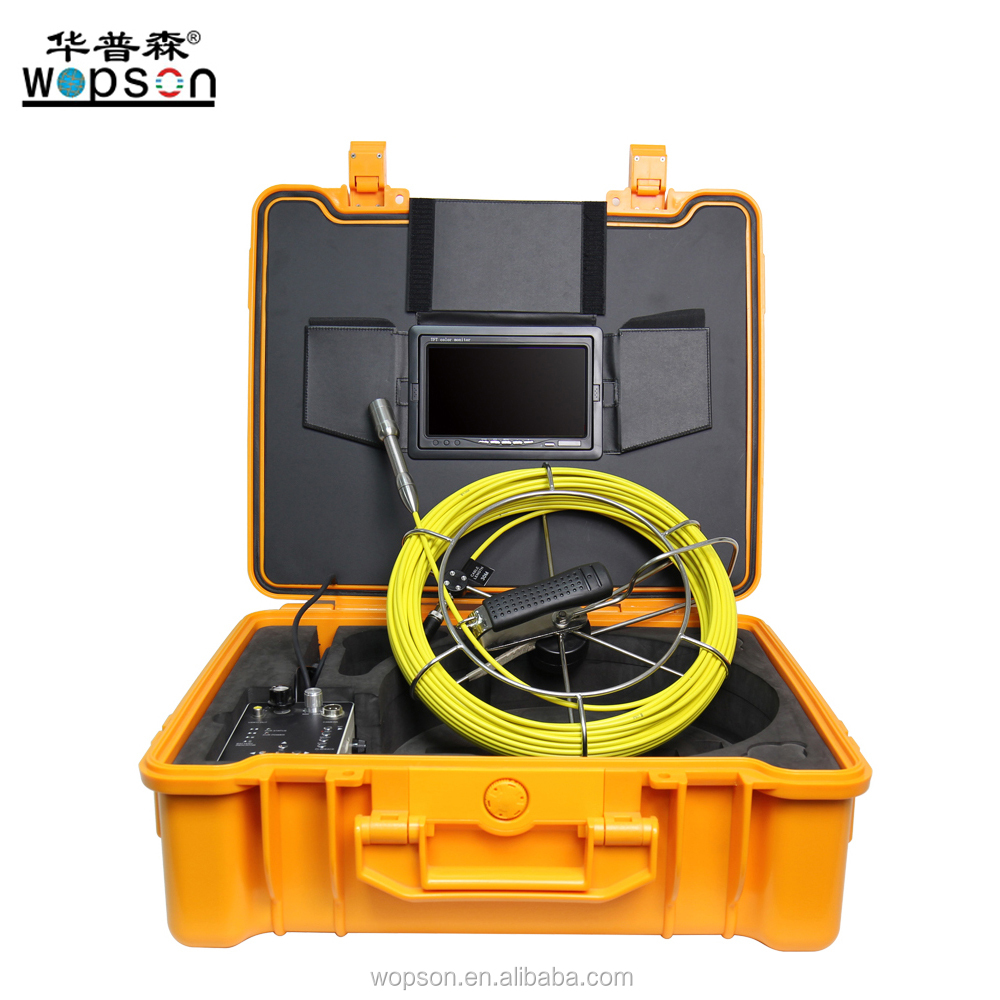 Waterproof Video Push Cameras Water Pipe Inspection Camera System, 100ft/30m, Color, Text Writing, Video Recording WPS-710DNK