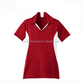 582d9e1cb ... clearance custom logo ladies v neck no button uniform polo shirt buy  button up polo shirtscustom