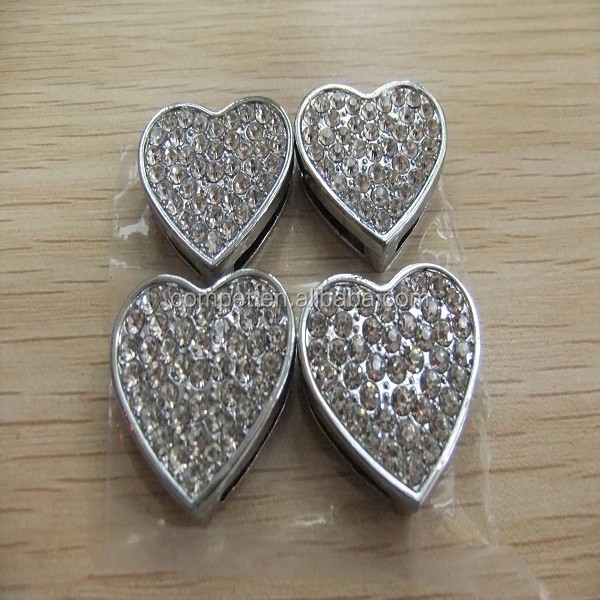 18 mm DIY stone slide charms heart shape stone changeable .