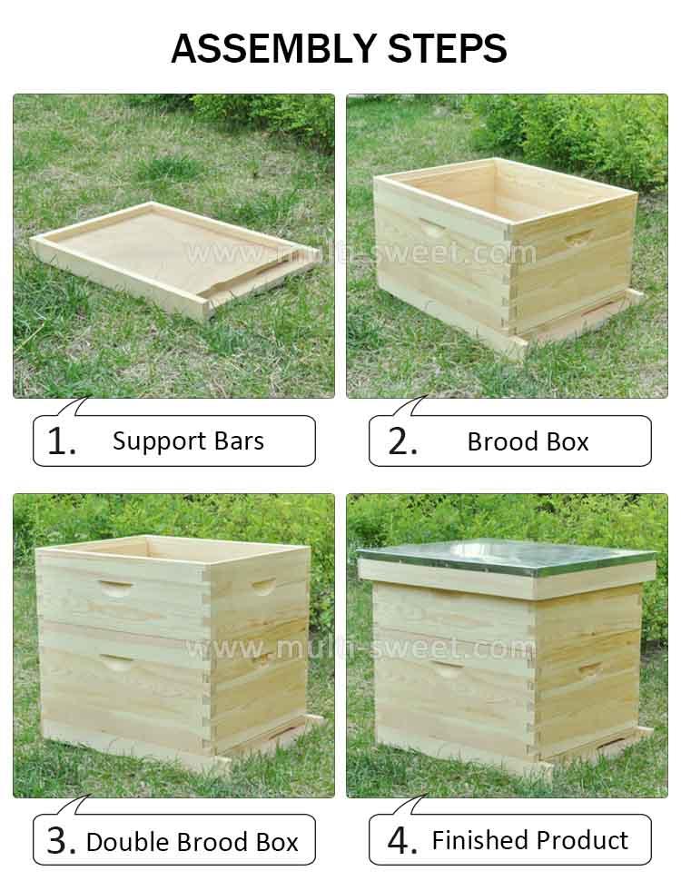 2018 Wood 10 Frame Bee Hives Honey Box Langstroth Beehive - Buy Bee ...