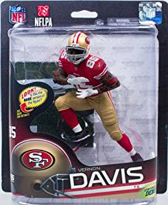 5004cd67c7d Get Quotations · Vernon Davis  85 Red Jersey Action Figure Debut San  Francisco 49 ers Forty Niners