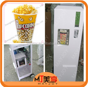 Factory price cheap popcorn machines with coin operated/popcorn vending machine