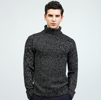 Man sweater british style youth pullover long sleeve fashion Turtleneck