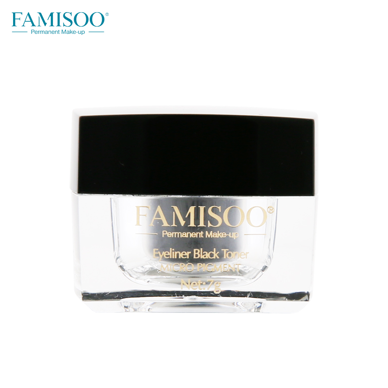 OEM Famisoo permanent eyeliner makeup pigment black toner in stock