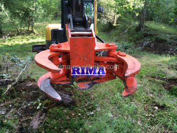 machine cutting trees