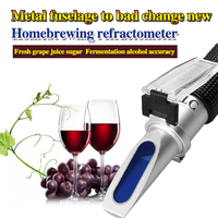 HT512ATC Wine grape juice saccharinity detection instrument sugar 0-40% alcohol 0-25% refractometer