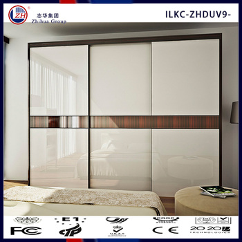 Wooden Wardrobe Cabinet Closet Sliding Doors