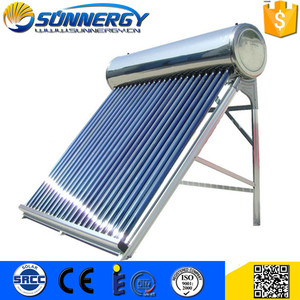 Factory Supplier Guangzhou CE hotel vacuum tubes pressured solar water heater 500L 1000L Solar thermal market