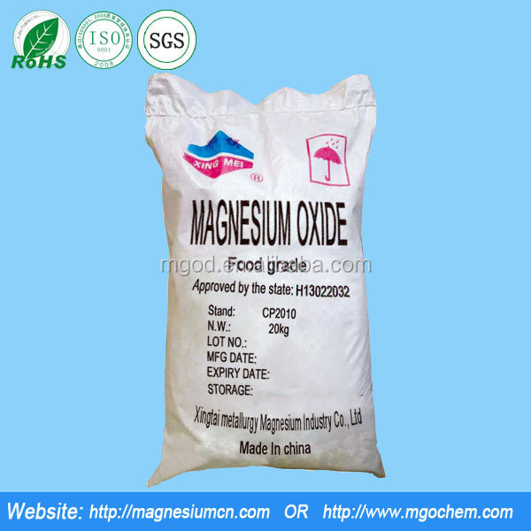 Pharmaceutical Raw Material Magnesium Oxide CAS NO.1309-48-4/ Chemical Raw Material from China/Pharmaceutical Grade mgo