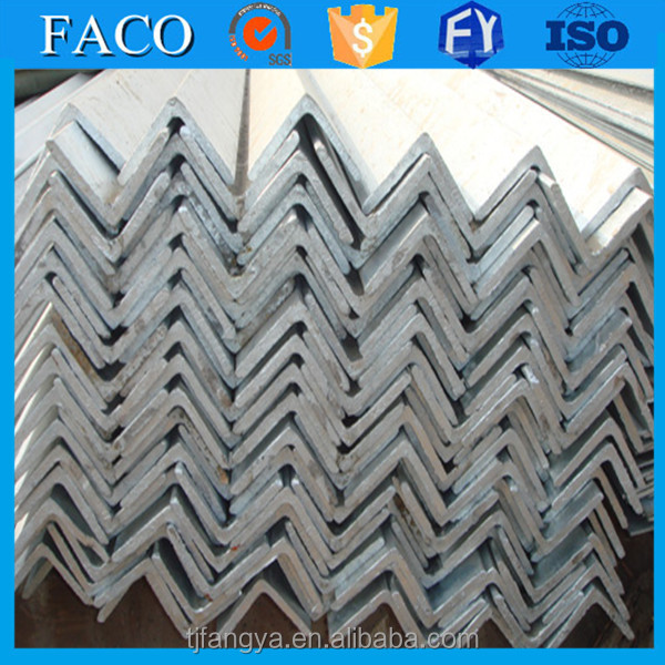 Fangya galvanized angle bar ! gi angle iron bar galvanized unequal angle iron for building structure