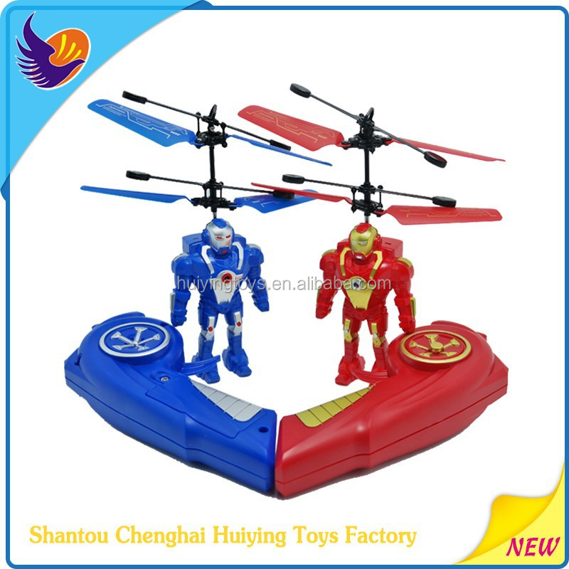 Newest toys Flying Robort.HY-835 infrared induction toy flying helicopter for sale
