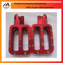 Anodized Aluminum Foot Pegs/ Pedals Rapid Prototype CNC Machining Wholesale Bike Spare Parts