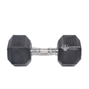 Wholesale Gym Hex Rubber Weights Dumbbells