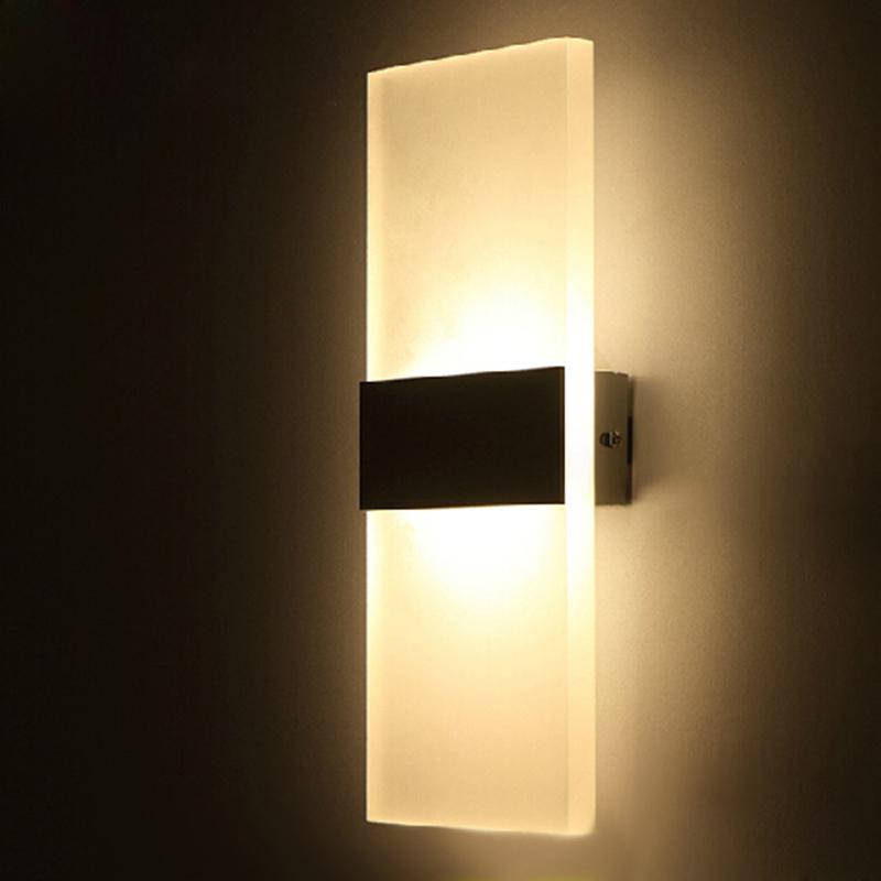 Typo Led Wall Light: Acrylic 12W Led Wall Light UP & Down AC220V AC110V LED