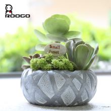 Roogo magical resin imitation Beijing bird's Nest stadium garden succulents plants flowers pot