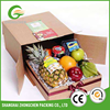 Custom printrd recycled folding double wall fruit carton cardboard paper packaging corrugated box