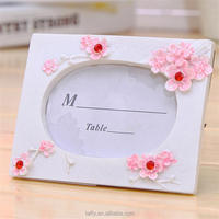 2017 new Bridal Wedding Favor cherry blossom picture Photo Frame table number Place Card Holder