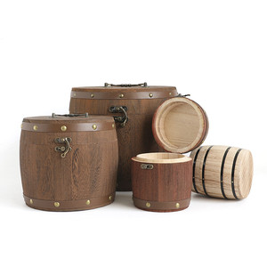 new product mini wooden bucket,wooden box wtih hanger,wooden pen holder