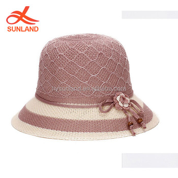 ae8caa6d13f42 F-1251wholesale old women knitted straw hats doll fedora hat for spring and  summer