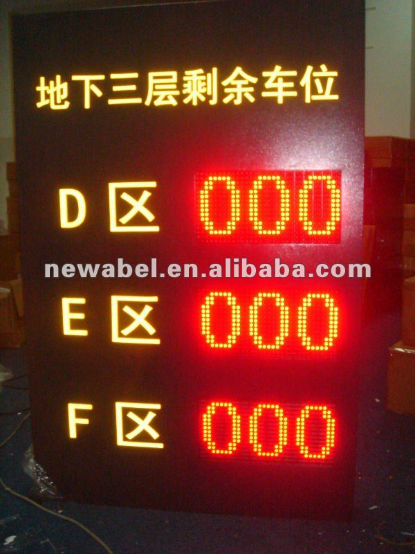 Outdoor Display for Parking Guidance System(PGS)