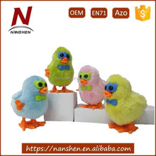 Promotional wind up small chicken shape baby plush toys