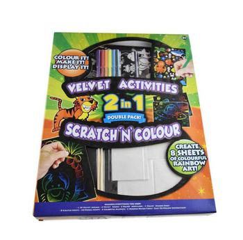 Fabric Scratch Velvet Kids Coloring Sets Drawing Painting - Buy Fabric Draw  Painting,Drawing Painting Set,Jumbo Art Set Product on Alibaba.com