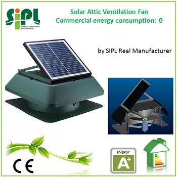 Solar Attic Fan Solar Roof Ventilator With 14 Inch Air Duct Ventilation Fan  Fresh Air