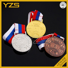 wholesale cheap metal engraved russian sport award medal