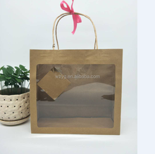 cheap flower paper bag many size flower window paper bag flower pot package