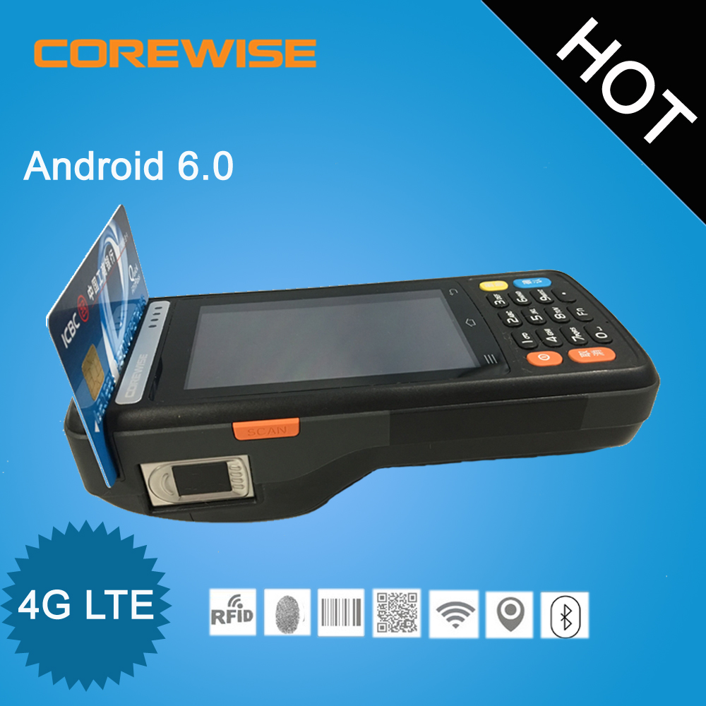 Newest rugged industrial mobile computer pos wireless pda with built in printer