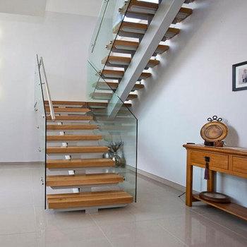 Modern Office Building Mono Stringer Wooden Steps U Shape
