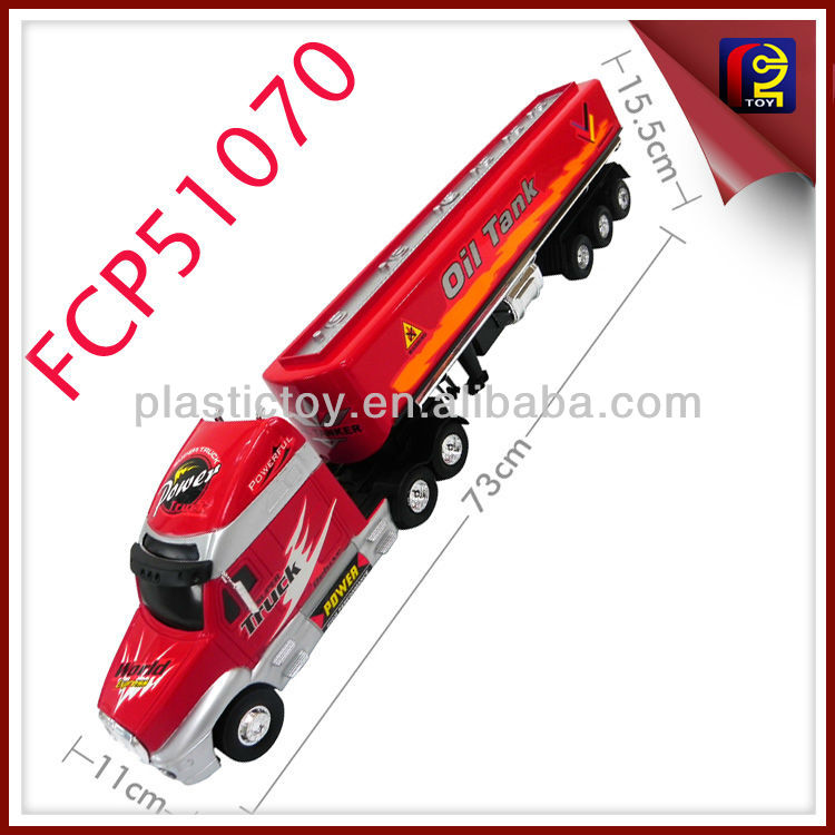 73 cm Friction Oil Tank biggest size kids friction toys truck FCP51070